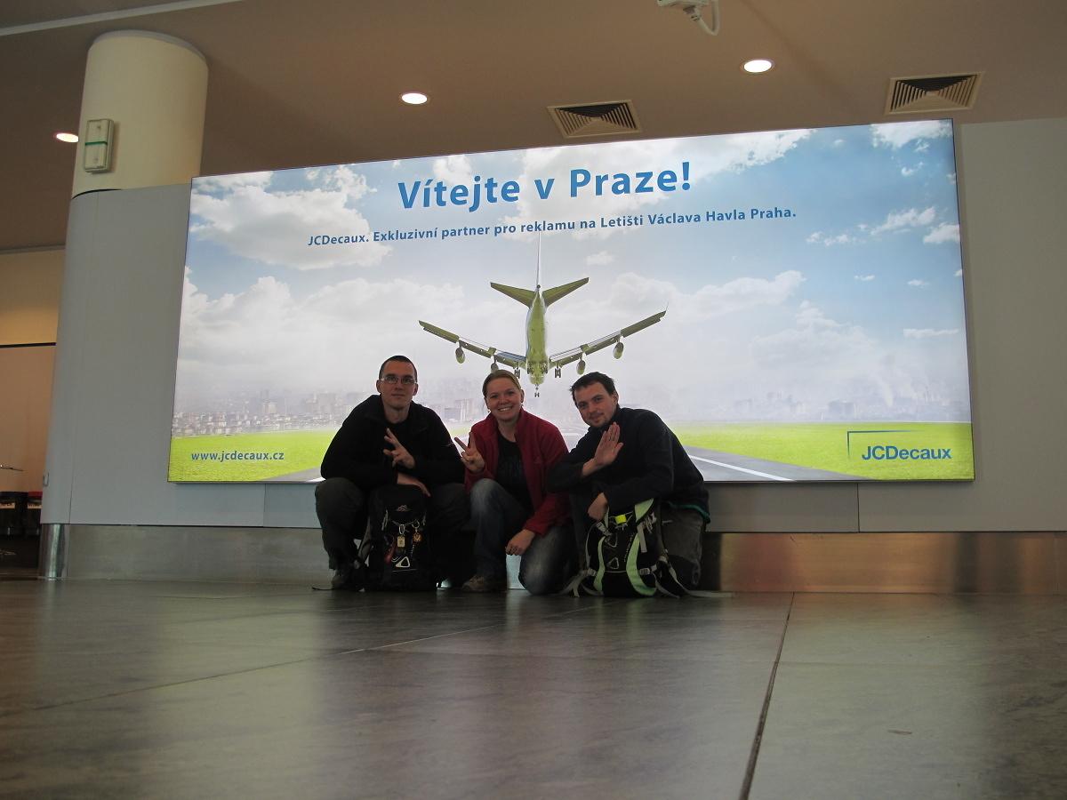 Na letišti v Praze
